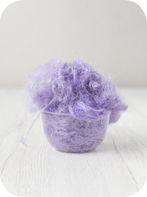 Sari silk waste- LAVENDER, 20 grams