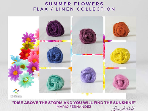 Flax Collection - Summer Flowers, 200 grams