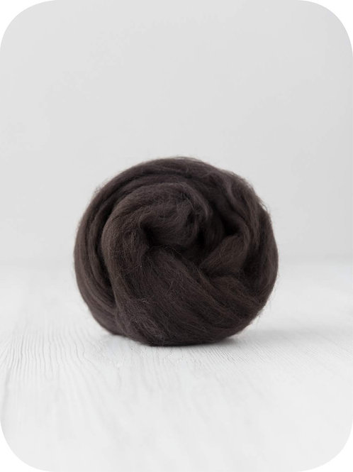 19 mic Superfine Merino Wool - Coffee, 50 g (1.76 oz)