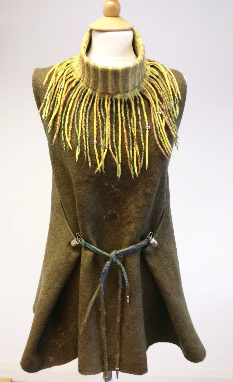 Nuno felted accessory