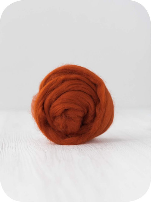 19 mic Superfine Merino Wool - Rust, 50 g (1.76 oz)
