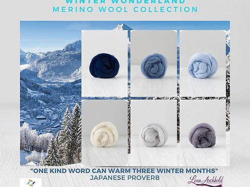 Mix of Merino Wool - Winter Wonderland, 200 grams