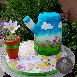 Pouring Watering Can Cake