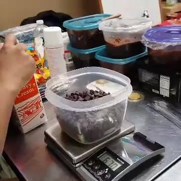 Making ganache in 5 minutes :)  ( at Shore Cake Supply in Ocean, NJ )