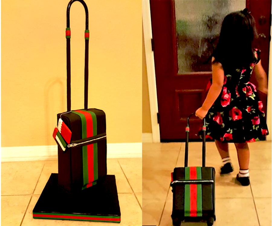 Rolling Luggage Cake