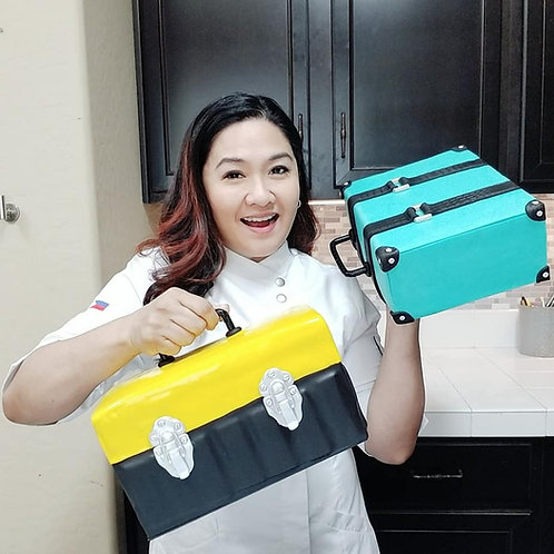 Two in One Toolbox & Briefcase Cake Class- Online Private FB Access