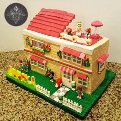 Lego Friends Cake