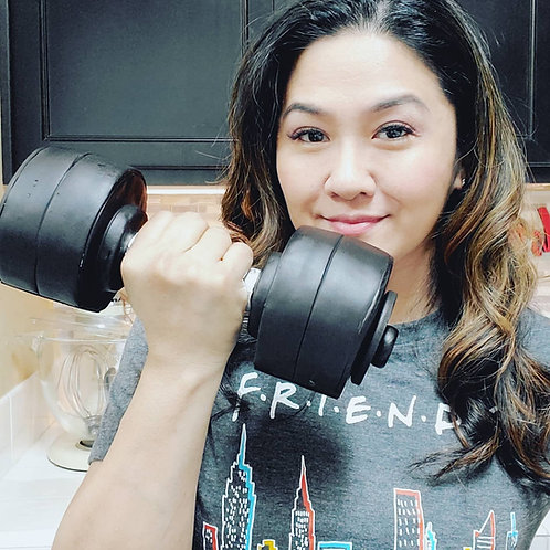 Gravity Defying Small Dumbbell Cake - no hardware required