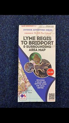 Lyme Regis To Bridport & Surrounding Area Map