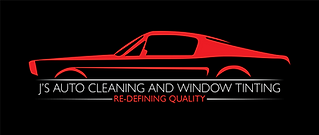 J's Auto Cleaning Logo with Black Backgr
