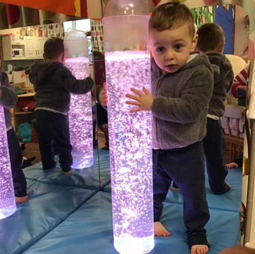 Sensory Fun with the Bubble Tower