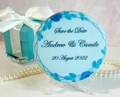 SAVE THE DATE WEDDING COOKIE