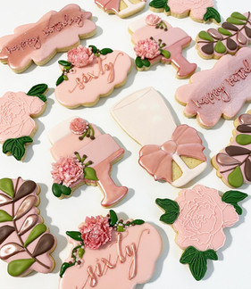Sixty Birthday Celebration Cookies