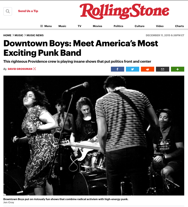 Rolling Stone Downtown Boys