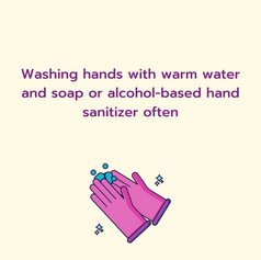 More steps from Toronto Public Health with Community Gardens about handwashing with a decorative hands washing below
