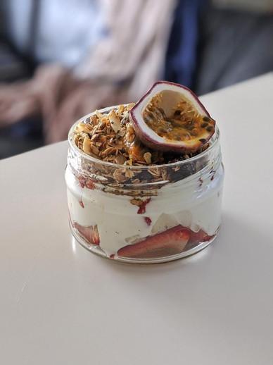Yogurt & Passion Fruit Parfait with Homemade Granola