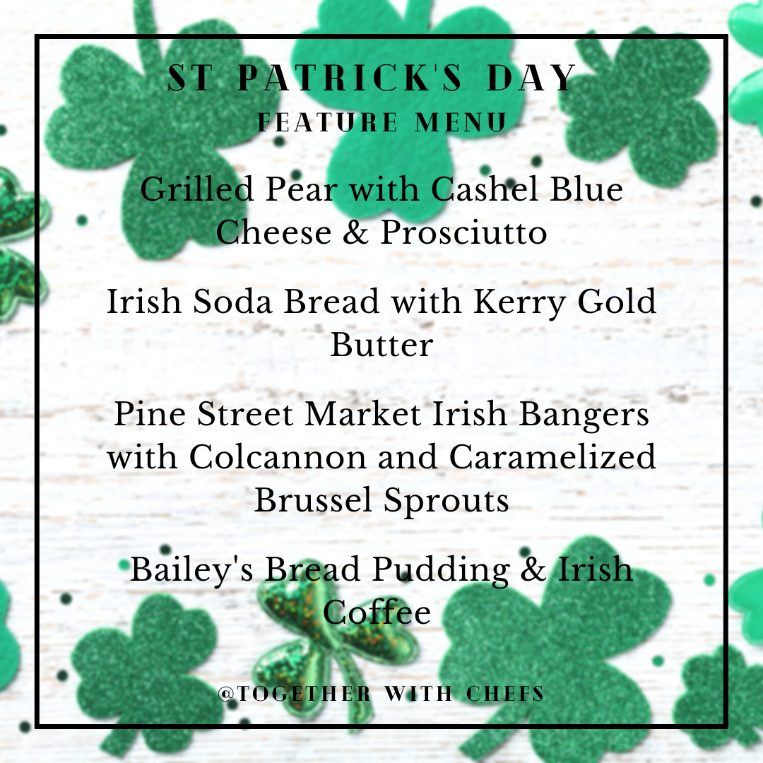 St Patrick's Day Class; March 13th