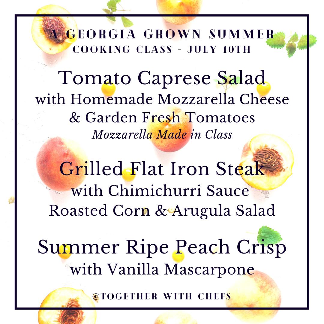 Georgia Grown Summer Class - July 10th