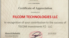 Filcom receives recognition from TECOM