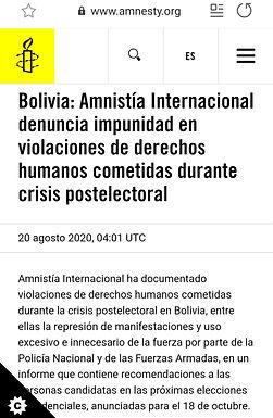 Amnistía Internacional denuncia impunidad en violaciones de derechos humanos cometidas dura
