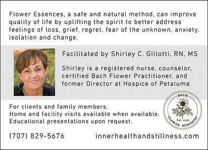 Shirley end of life postcard 5x7 - back