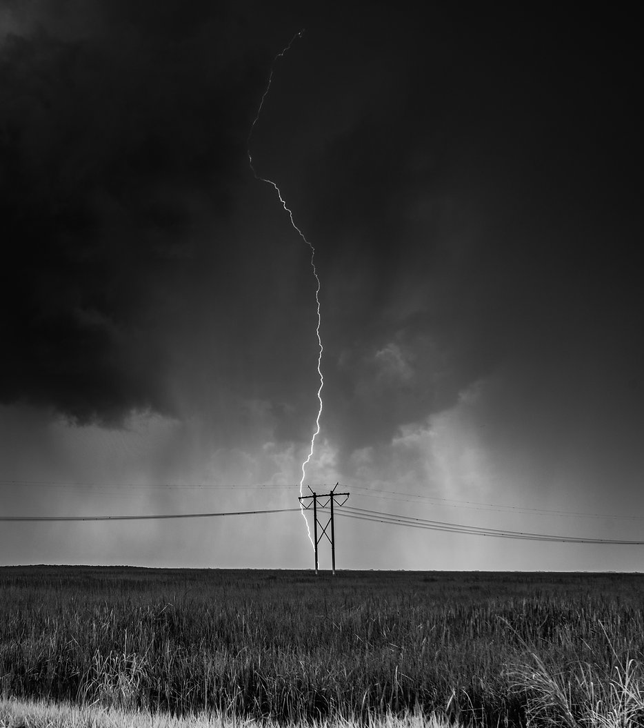 thunderstorm, black and white, fine arts photography, florida weather, everglades, everglades national park