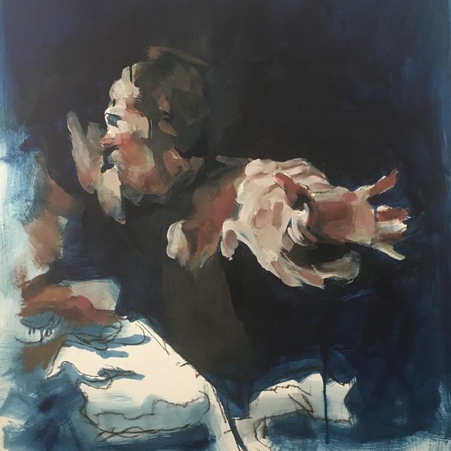 oil sketch after Caravaggio