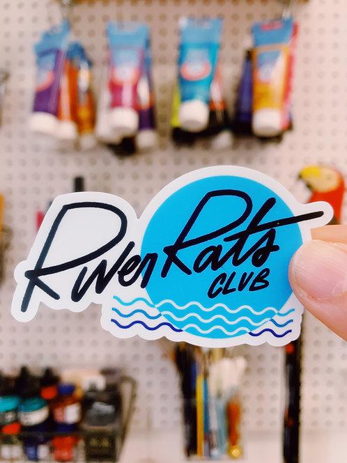 River Rat Club Sticker