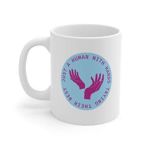 Human with Hands Mug