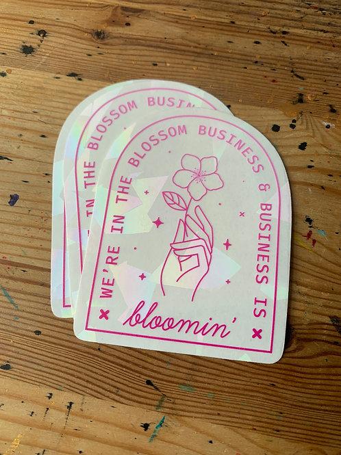 Business is Bloomin Suncatcher