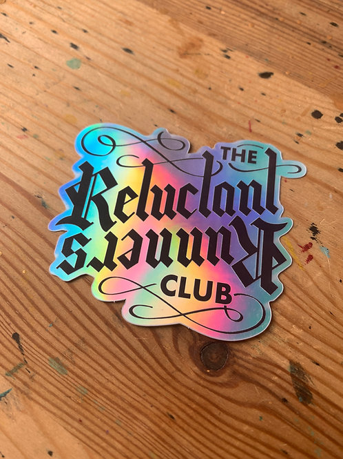 Reluctant Runners Club Sticker