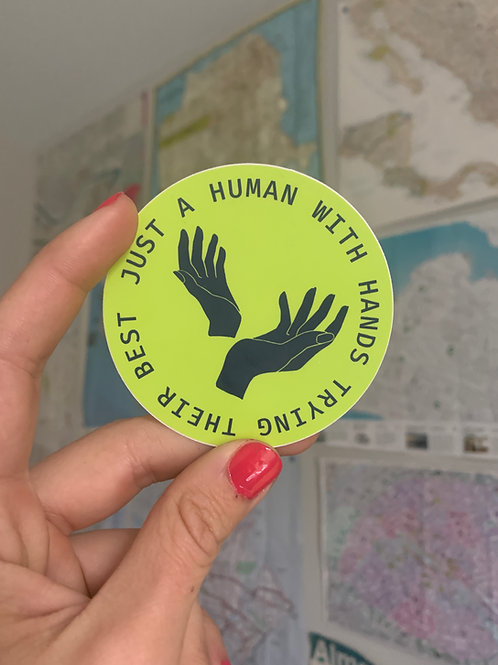 Human with Hands Sticker