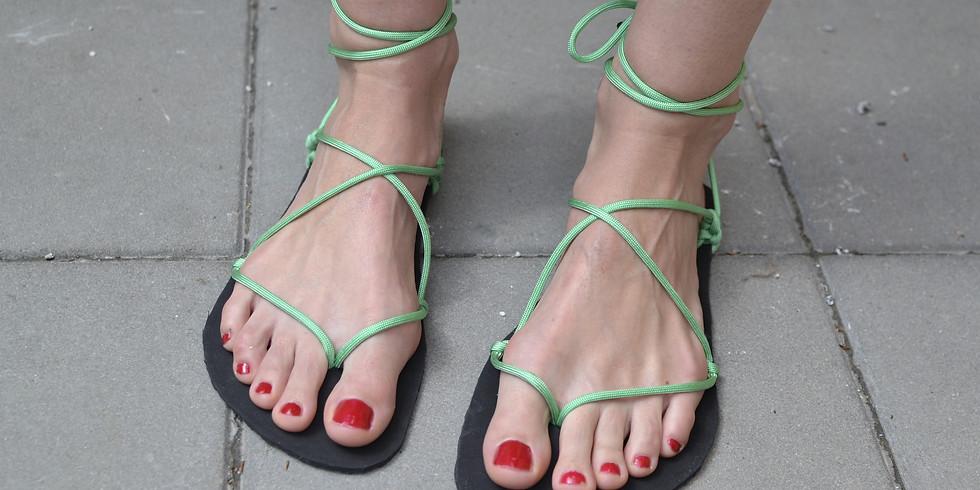 Výroba barefoot sandálů (pro ženy i muže)