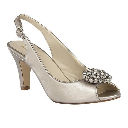Elodie Sling-Back Shoes Pewter Metallic | Lotus
