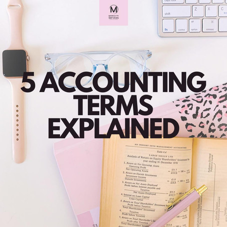 5 ACCOUNTING TERMS EXPLAINED
