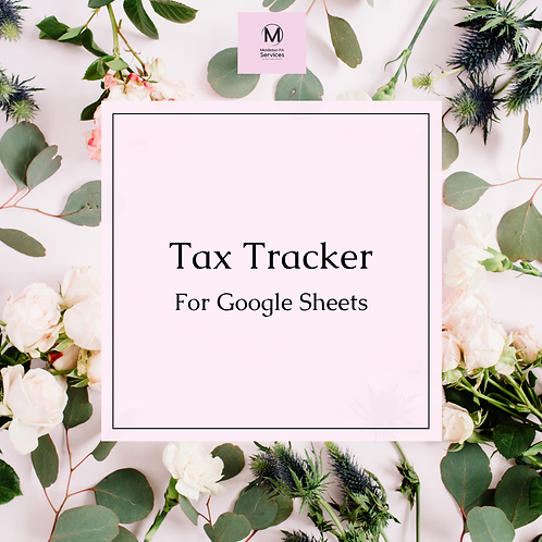 Sole Trader Tax Tracker (Google Sheets)