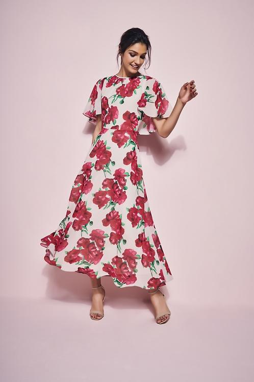 Aline Floral Print Dress