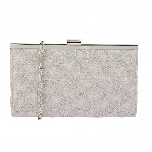 Kinsley Occasion Bag | Silver | Lotus