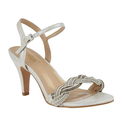 Jasmine Sandals Silver Diamante | Lotus