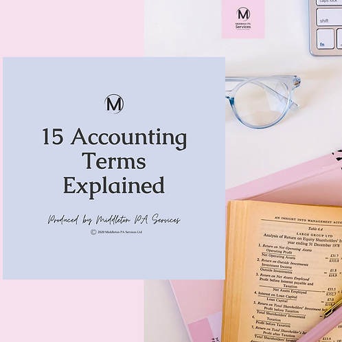 15 Accounting Terms Explained PDF Guide