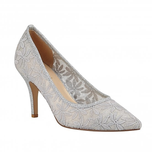 Briony Silver Court Shoes | Lotus