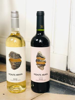 'Monte Araya White' . €15   'Crianza' . €18