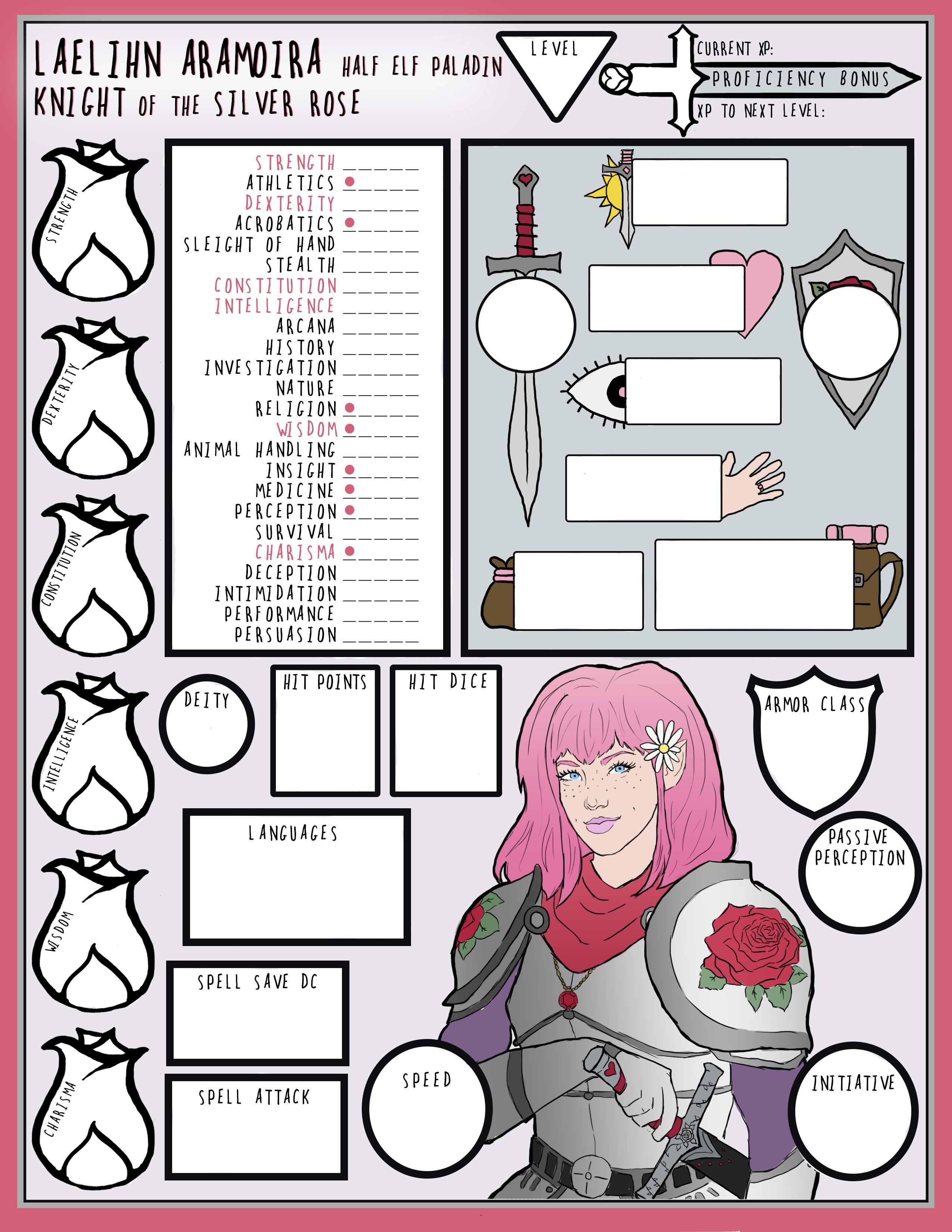 Love Paladin Character Sheet