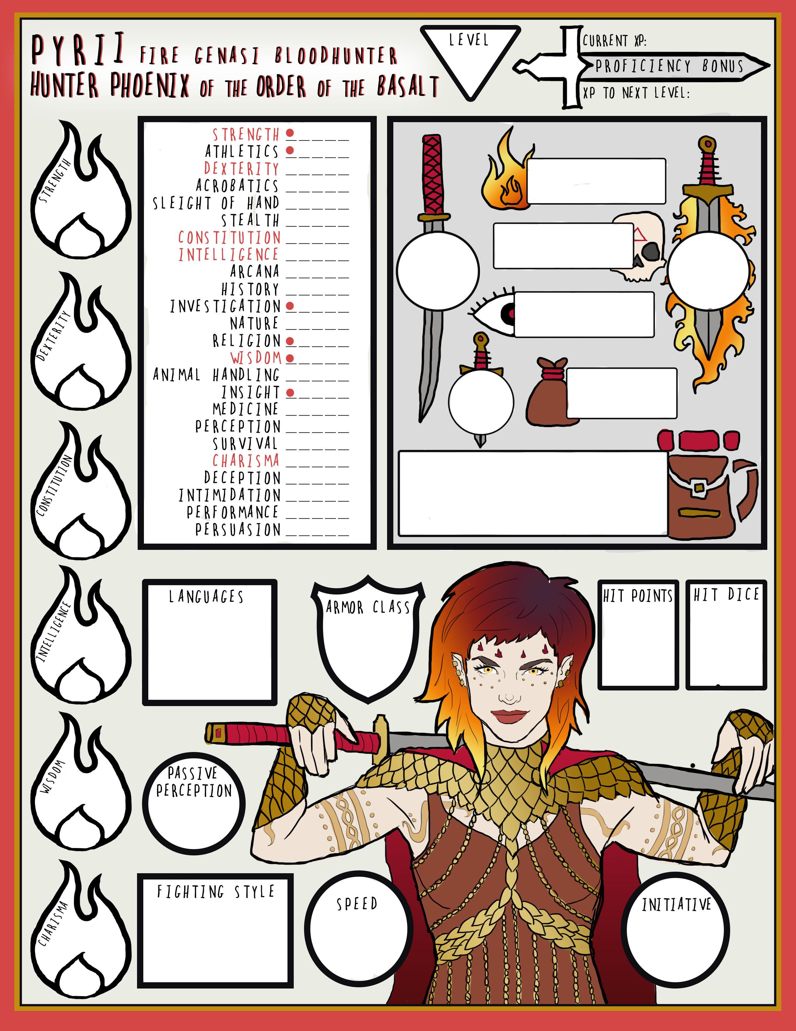 Genasi Character Sheet