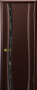 Камелия 1 венге чёрный триплекс рисунок