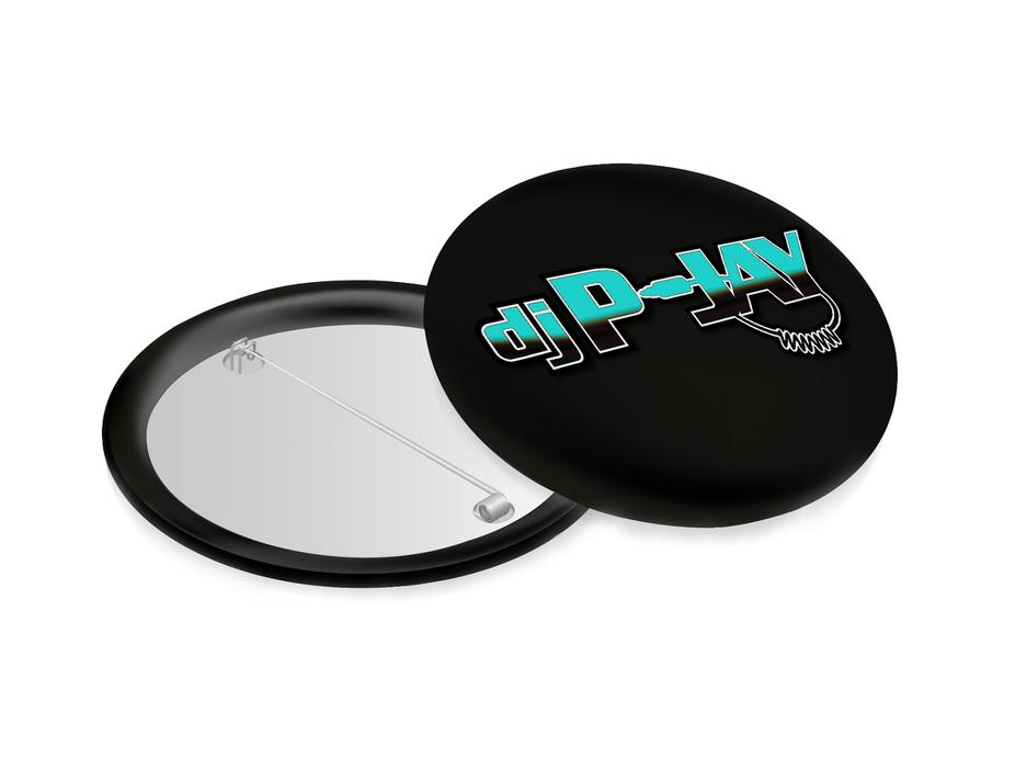 DJ P-Jay Collectible Pin (Black)