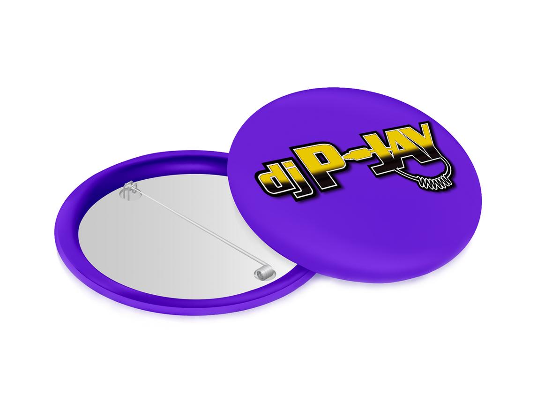 DJ P-Jay Collectible Pin (Purple)