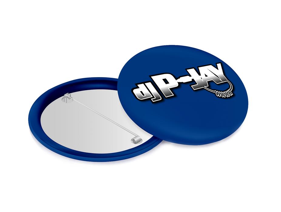 DJ P-Jay Collectible Pin (Blue)
