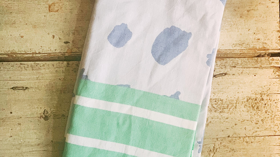 Clare McLaughlin Hand-Painted Blueberry Print Turkish Towel