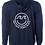Thumbnail: Unisex Hooded Sweatshirt Navy